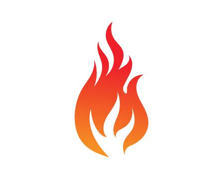 Plantilla de diseño de ilustración de vector de llama de fuego Ilustración de vector