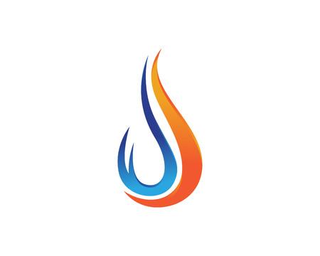 Icône de vecteur de modèle de logo de flamme de feu Concept de logo de pétrole, de gaz et d'énergie Logo