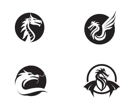 Dragon vector icon illustration design logo template Illustration