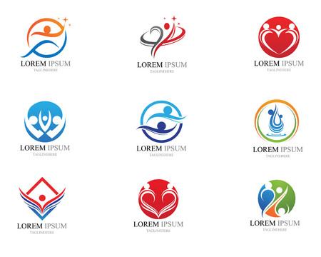 Human character logo sign illustration vector design Logo