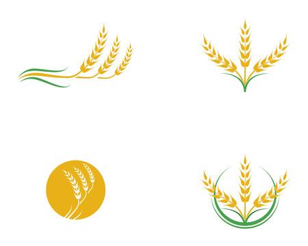 Diseño de icono de vector de trigo de agricultura