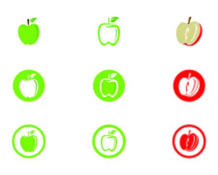 Apple vector illustration design icon logo template Ilustração