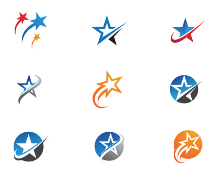 Diseño de ilustración de vector de plantilla de icono de estrella