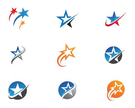 Gwiazda ikona Szablon wektor ilustracja projekt