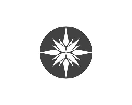 Compass Logo Template vector icon illustration design - Vector 矢量图像