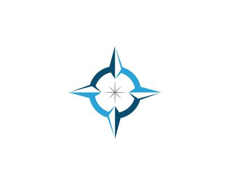 Compass Logo Template vector icon illustration design - Vector Vectores