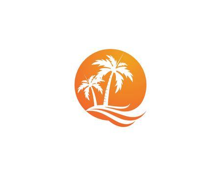 Illustration vectorielle de palmier été modèle Vecteurs