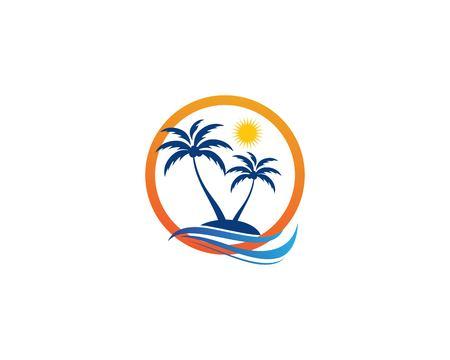 Illustration vectorielle de palmier été modèle