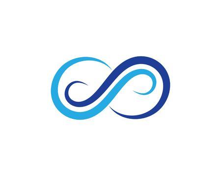 Diseño de plantilla de logotipo de ilustración de icono de vector de diseño infinito