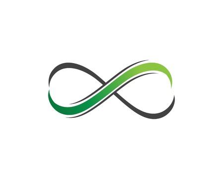 Infinity Design Vector icon illustration Logo template design Ilustração