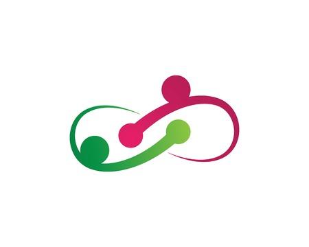 Infinity logo people community Design Vectors