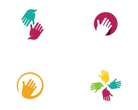 Hand Care Logo Template vector icon Business - Vector