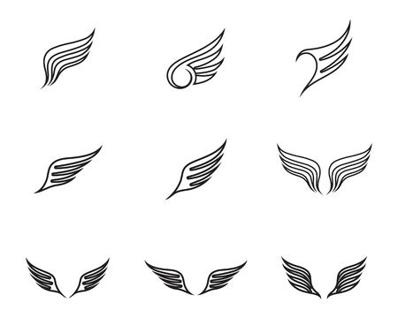 Wing logo and symbol business template vector