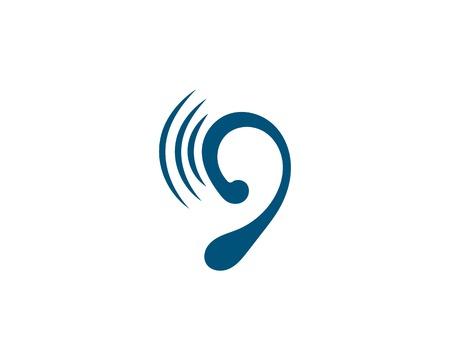 Hearing Template vector icon design Reklamní fotografie - 122831122