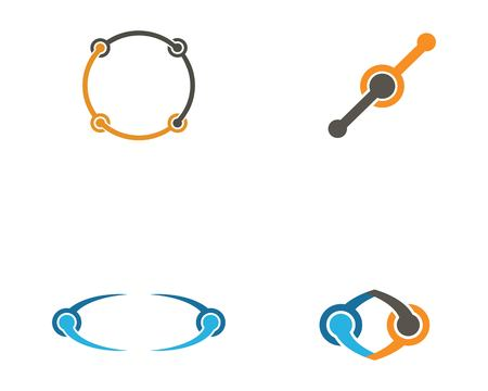 Infinity unity Design Vector icon illustration Logo template design Çizim