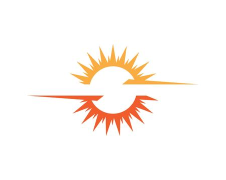 Sun logo generic Icon Template design