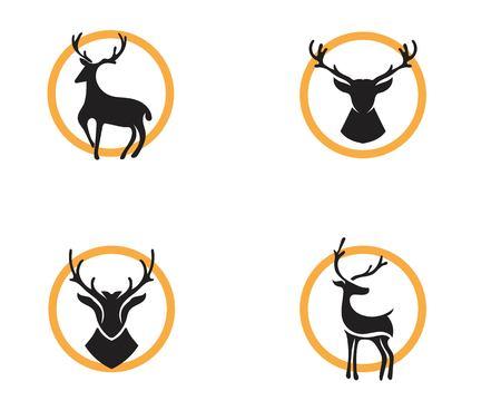 Disegno dell'illustrazione dell'icona di vettore del modello di logo dei cervi