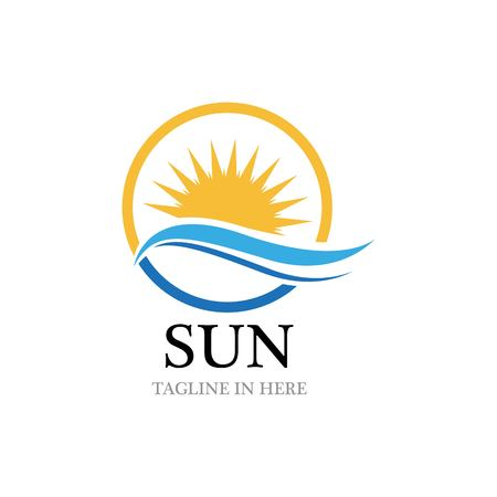 Sun Vector illustration Icon Logo Template design Illusztráció