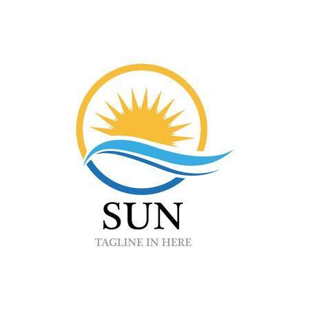 Zon Vector illustratie pictogram Logo sjabloonontwerp
