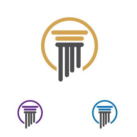 Spalte Logo und Symbolvektor Vorlage