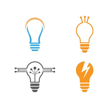 Bulb logo vector ilustration template