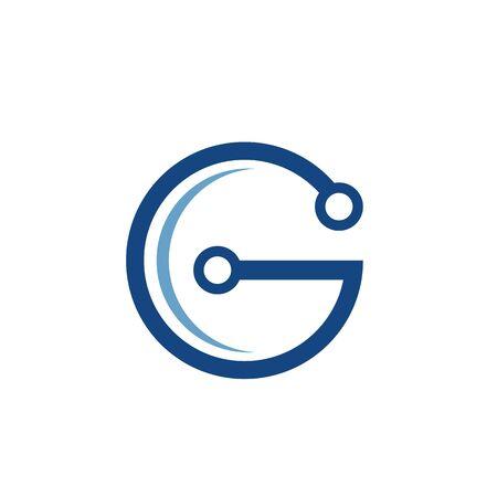 G Letter vector illustration icon Logo Template design Stock Vector - 124861309