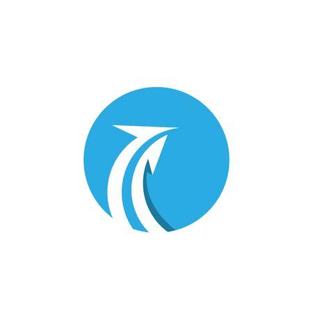 Arrow vector illustration icon Logo Template design Stock Vector - 124861313
