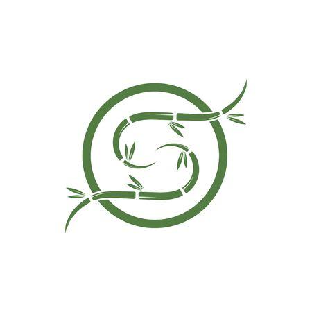 Bamboo Logo Template vector icon illustration design