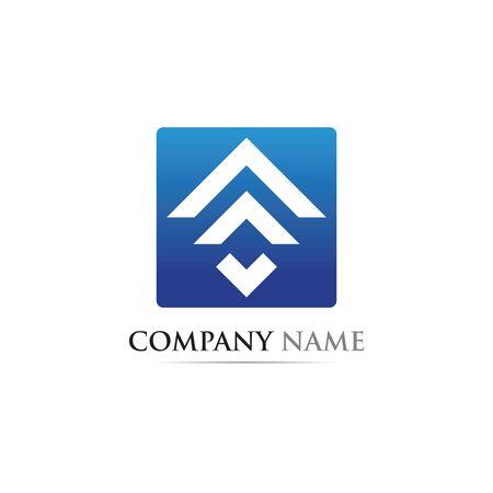 Diseño de icono de vector de plantilla de logotipo de finanzas empresariales