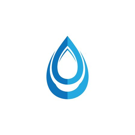 Waterdrop Creative Vector Logo Design Template