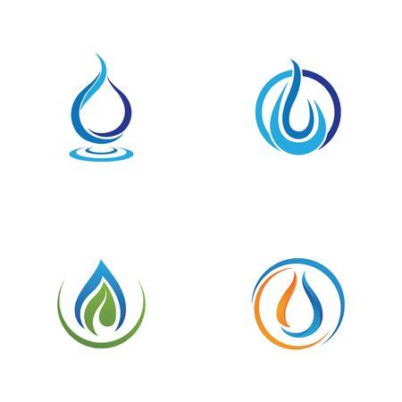 Waterdrop Creative Vector Logo Design Template