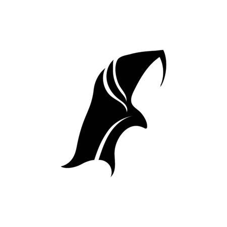 Hijab women black silhouette vector icons app