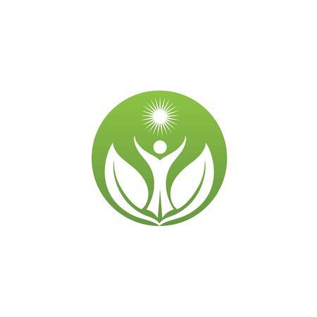 Health people Human character logo sign illustration vector design