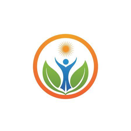 Health people Human character logo sign illustration vector design Logo