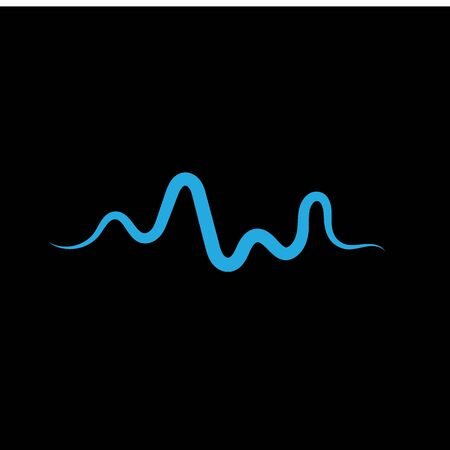 Sound waves vector illustration design template