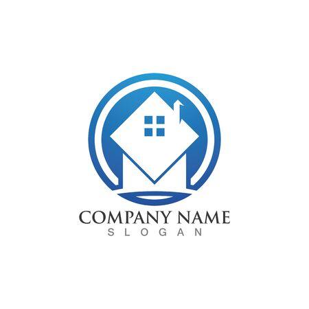 Home logo and symbol , Property and Construction Logo design 向量圖像