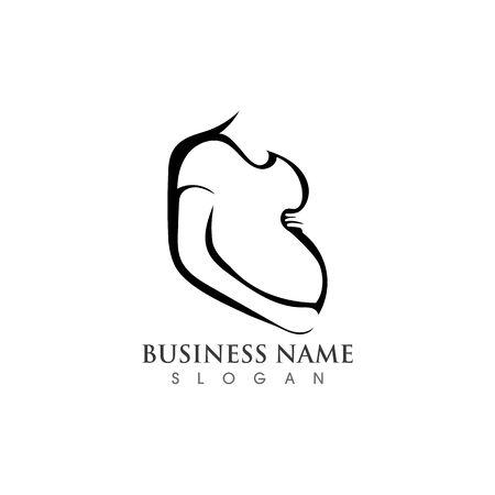 Pregnant logo template vector icon illustration design