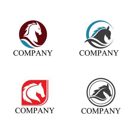 Horse Template Vector icon illustration design