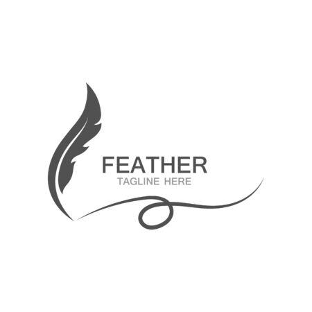 feather logo vector template Logo