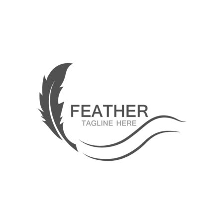 feather logo vector template 일러스트