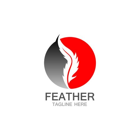 feather logo vector template Ilustração