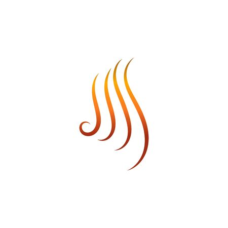 Hair wave logo vector icon template illustration line