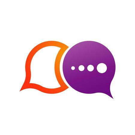 Speech bubble icon Logo template vector illustration Ilustração