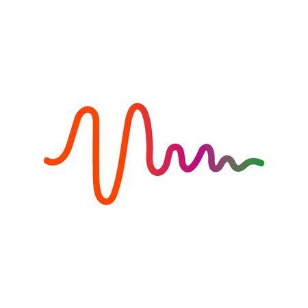 sound wave music logo vector template Ilustração
