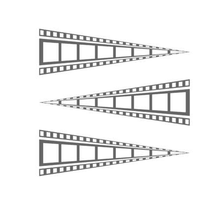 Film strip Cinema strip roll  blank slide frame  photo video monochrome picture negative vintage media filmstrip  vector movie design