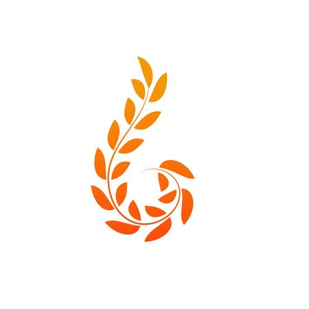 Agriculture wheat logo concept design template