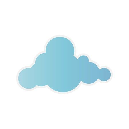 clouds. Blue sky with different cloud shapes. Cute summer cloudscape, cloudy landscape, simplicity nature aerial panorama vector comic book collection