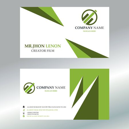 Vector Template Business Card Design Illustration