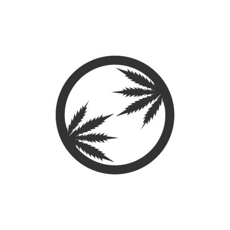 Cannabis marijuana hemp leaf logo and symbol