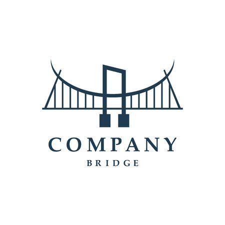 Bridge icon vector illustration Logo template design ЛОГОТИПЫ
